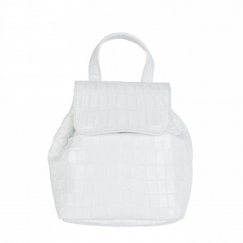 Petite Croc Backpack White