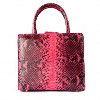Ava Python Bag - Pink