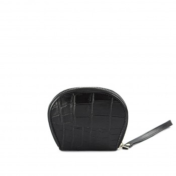 Croc Coin  Wallet Black