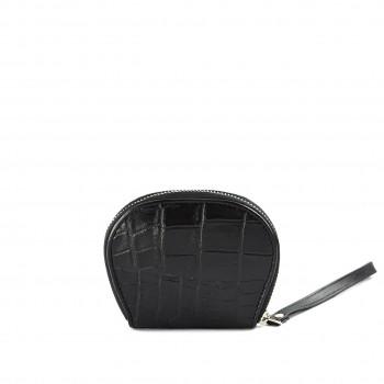 Croc Coin  Wallet Black