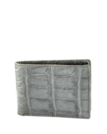 Croc Fold Wallet Grey