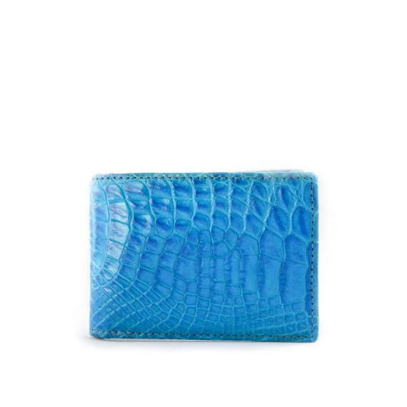 Croc Fold Wallet Mini Blue