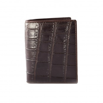 Croc Wallet Brown