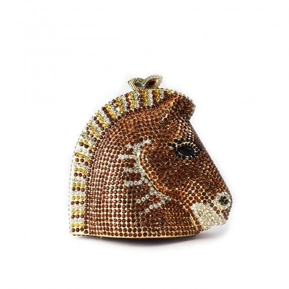 Horse Clutch Brown