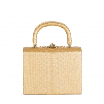 Python Box Bag Gold