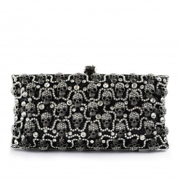 Skull Clutch Black