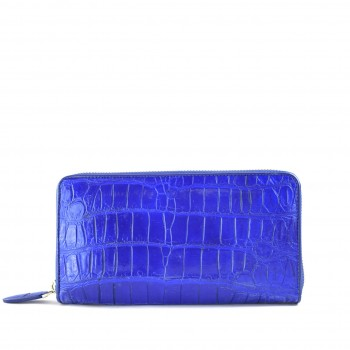 Unisex Zip Wallet Royal Blue
