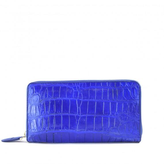 Unisex Zip Wallet Royal Blue