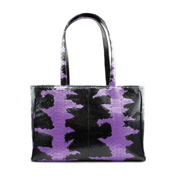 Glam Python Tote - Purple